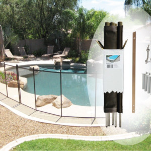4 x 12 brown diy pool fence - Pool Fence Installation
