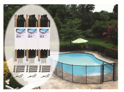 DIY Pool Fence | Black | 4 Foot Tall