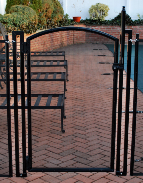 DIY Pool Fence | Black Arched Gate | 4 Foot Tall