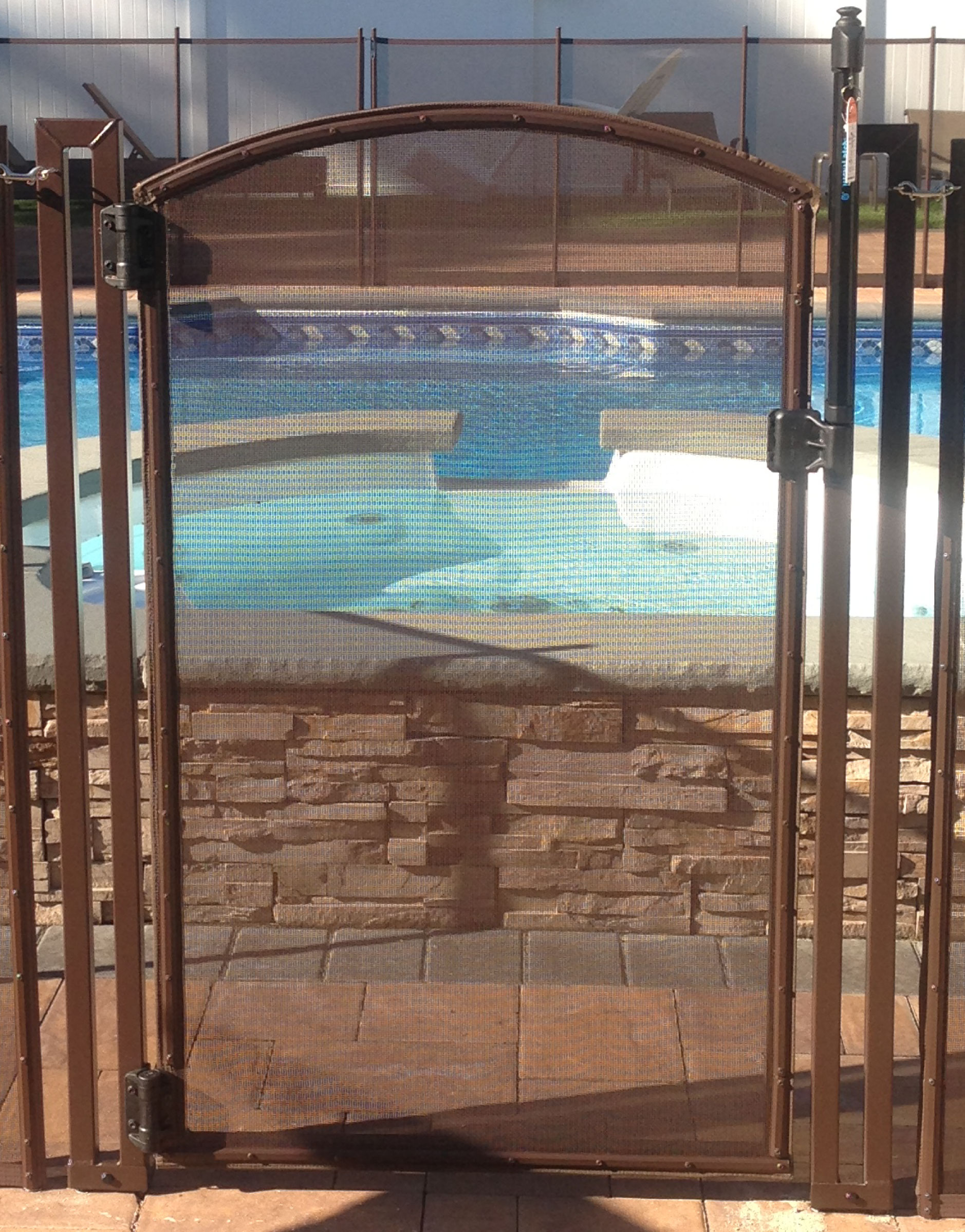 4\' Tall - Brown ARCHED DIY Pool Fence Gate